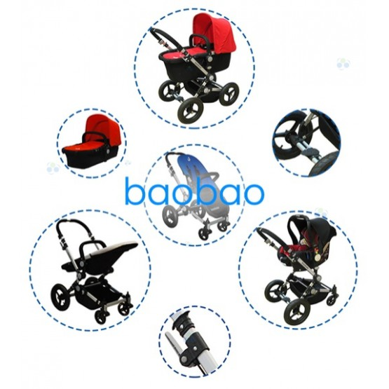 WÓZEK BAOBAO FULL WYPAS GONDOLA SPACEROWY RED D1
