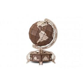Drewniane puzzle mechaniczne 3D Wooden.City Globus brąz T1