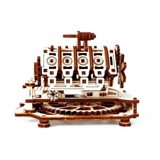 Drewniane puzzle mechaniczne 3D Wooden.City - Silnik V8 T1