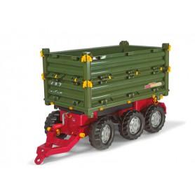 Rolly Toys Przyczepa Multi Trailer 3 osie Zielona