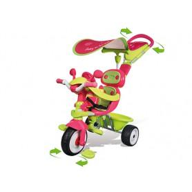 SMOBY Rowerek Baby Driver Comfort zielono różowy