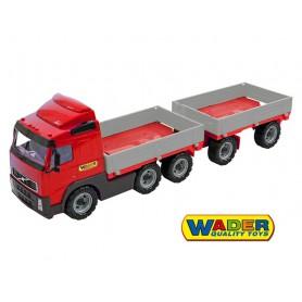 Wader QT Ciężarówka Volvo z burtami i przyczepą