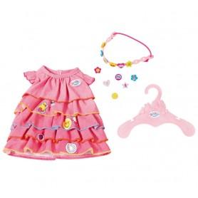 Baby Born Letnia Sukienka z Przypinkami