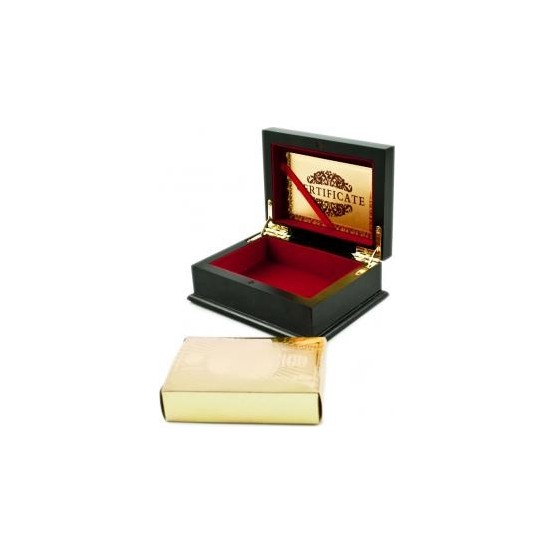 Karty do gry plastikowe złote w ozdobnej szkatułce E1