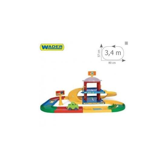 Wader 53020 Kid Cars 3D garaż 2 poziomy z trasą A1