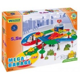 KID CARS 3D GARAŻ Z TRASĄ 5,5M 2 POZIOMY WADER - 53130 A1