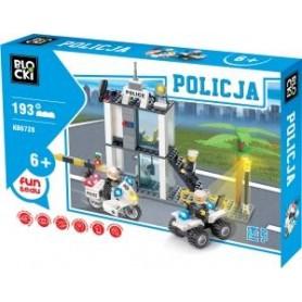 KLOCKI BLOCKI POLICJA 193 EL. POSTERUNEK