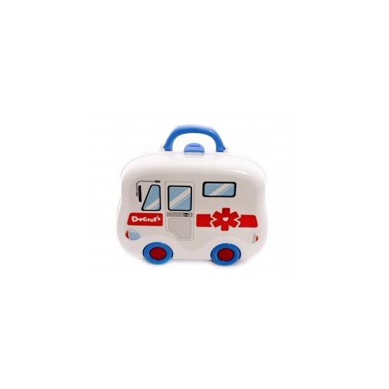 Zestaw lekarza z akcesoriami - Walizka autobus E1