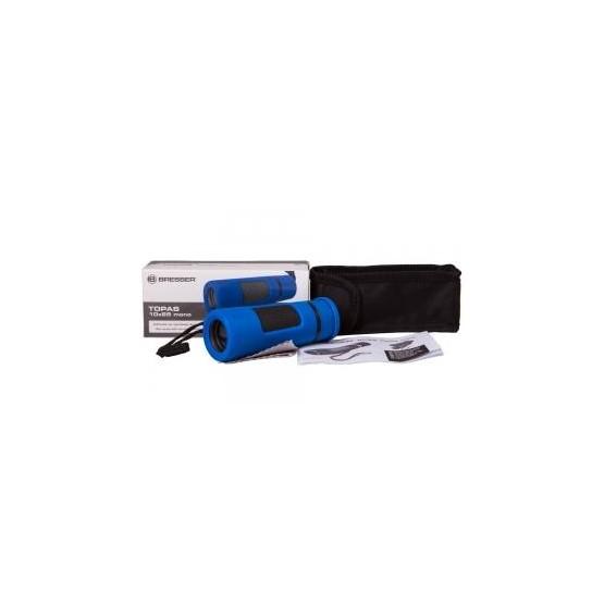 Monokular Bresser Topas 10x25, niebieski M1