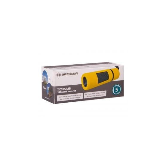 Monokular Bresser Topas 10x25, żółty M1