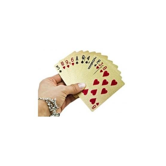 Karty do gry plastikowe złote E1