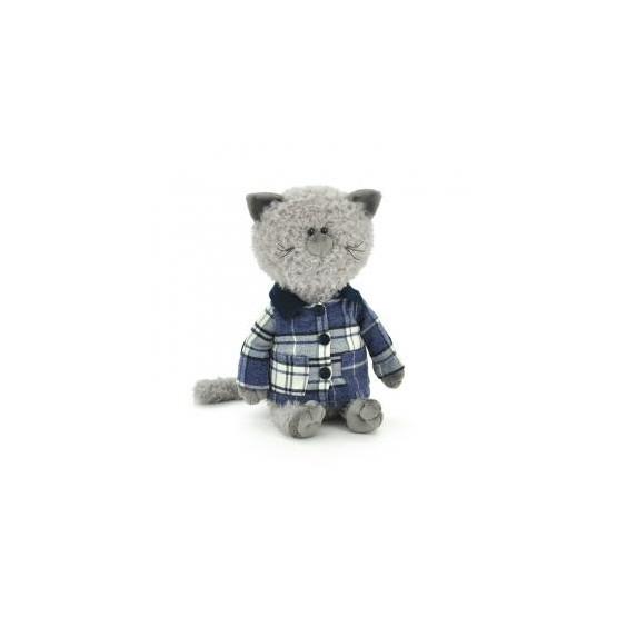 Przytulanka Kot Kumpel w koszuli w kratę 40cm T1