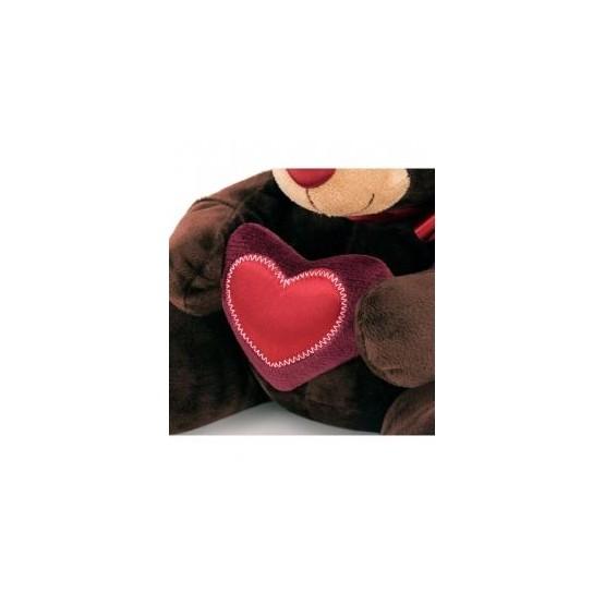 Przytulanka Pan Choco z sercem 15cm T1