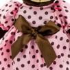 Przytulanka Stojąca Pani Milk w letniej sukience 25cm T1