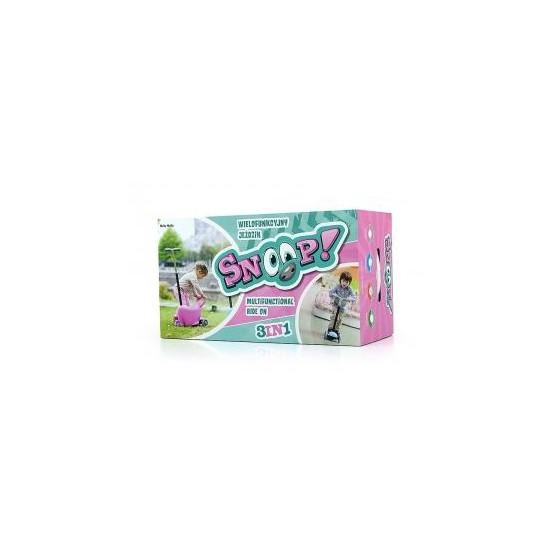 Jeździk SNOOP 3w1 pink B1