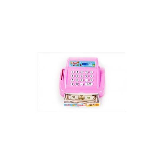 Kasa Fiskalna Sklep + akcesoria różowa E1
