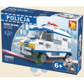 KLOCKI POLICJA CIĘŻARÓWKA POLICYJNA - 194 elementy