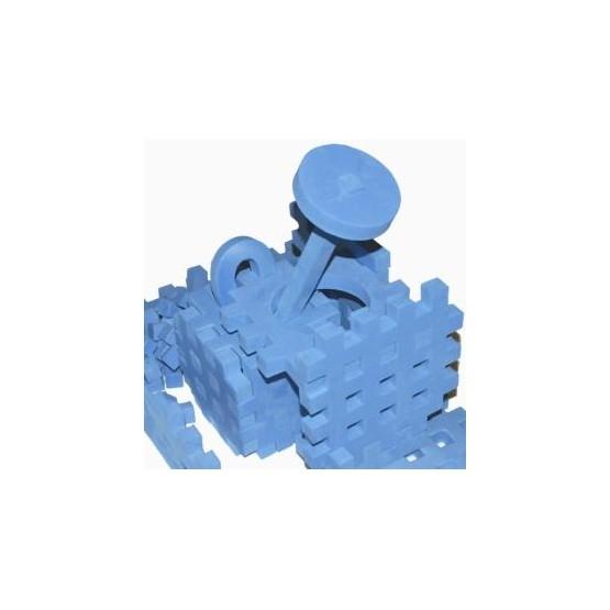 PIANKOWE PUZZLE SENSORYCZNE 115EL. blue premium U1