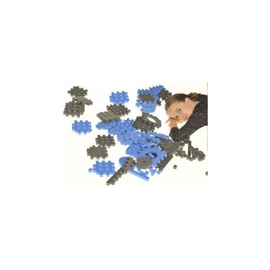 PIANKOWE PUZZLE SENSORYCZNE 230EL. blue-graphite premium U1