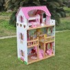Domek dla lalek Drewniany Melisa Piętrowy Różowy C1