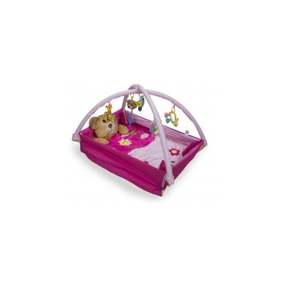 Mata Edukacyjna kojec z misiem różowa E1