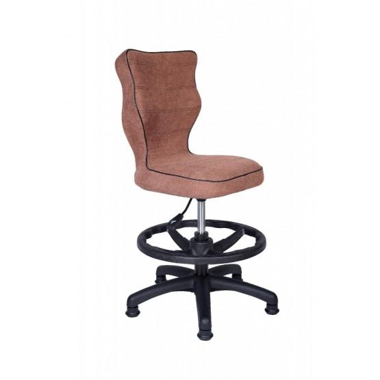 Krzesło obrotowe Alta - rozmiar 4 z podnóżkiem, brązowa R1