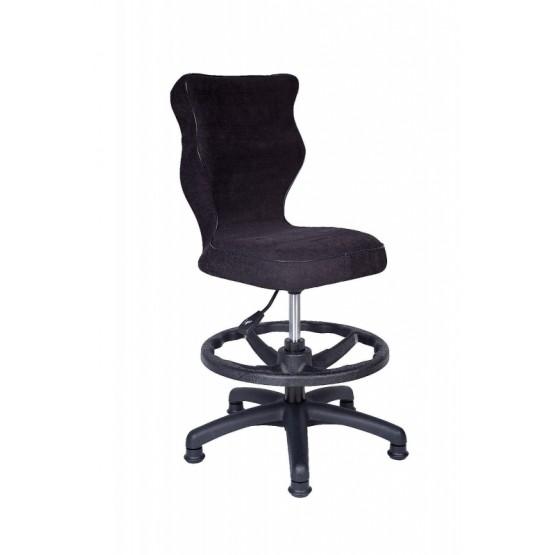 Krzesło obrotowe Alta - rozmiar 4 z podnóżkiem, czarna R1