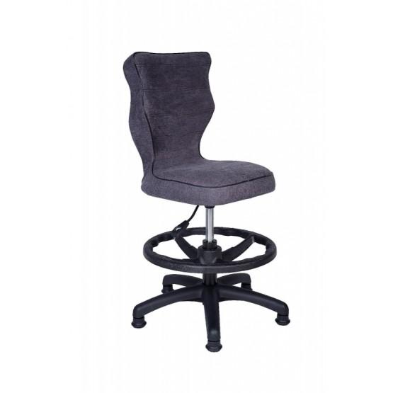 Krzesło obrotowe Alta - rozmiar 4 z podnóżkiem grafitowa R1