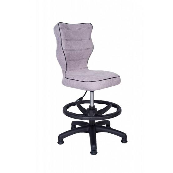Krzesło obrotowe Alta rozmiar 4 z podnóżkiem jasna szara R1