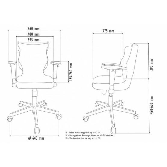 Krzesło obrotowe Alta - rozmiar 5, grafitowa R1