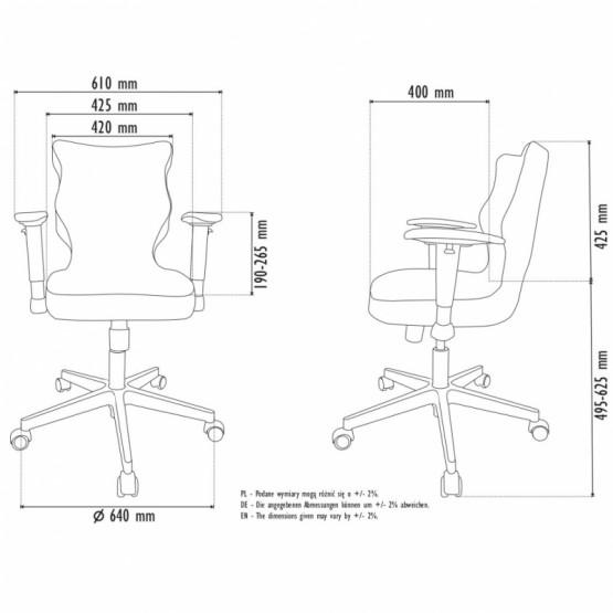 Krzesło obrotowe Alta Plus-roz. 6, brązowa stelaż czarny R1