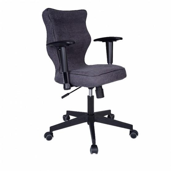 Krzesło obrotowe Alta Plus roz 6 grafitowa stelaż czarny R1