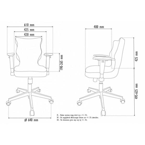 Krzesło obrotowe Alta - rozmiar 6, brązowa R1