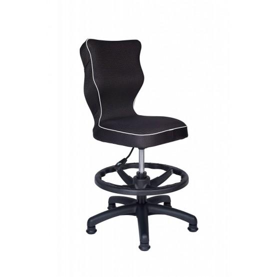 Krzesło obrotowe Rapid roz 3 z podnóżkiem lamówka biała R1