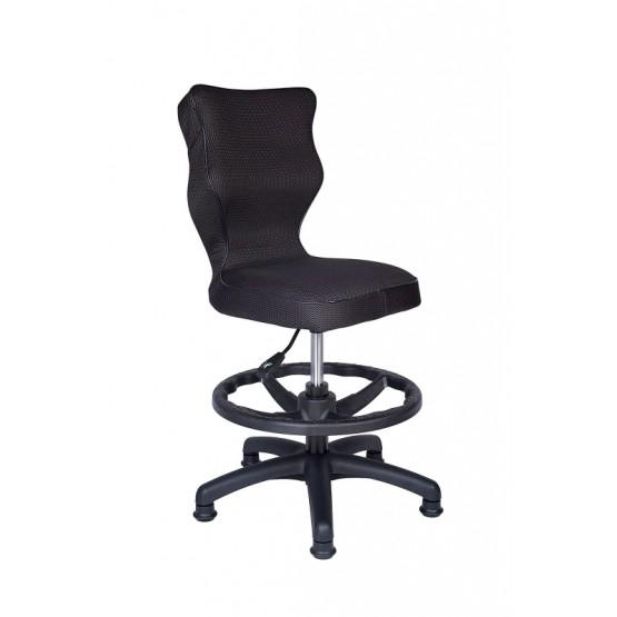 Krzesło obrotowe Rapid roz 3 z podnóżkiem lamówka czarne R1