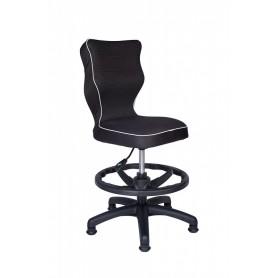 Krzesło obrotowe Rapid roz 4 z podnóżkiem, lamówka biała R1