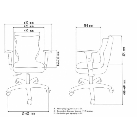 Krzesło obrotowe Rapid - rozmiar 6, lamówka biała R1