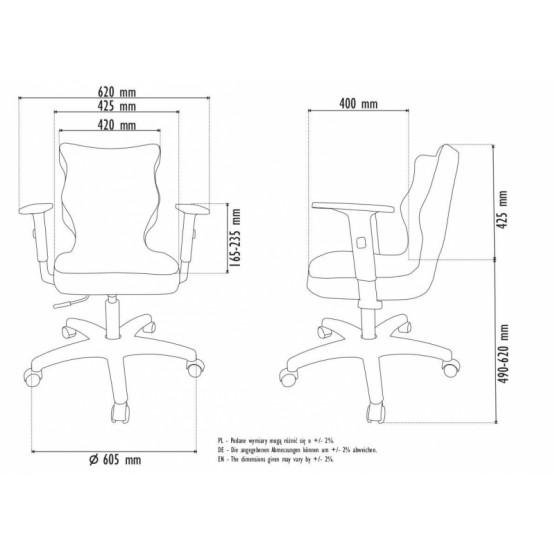Krzesło obrotowe Rapid - rozmiar 6, lamówka czerwona R1