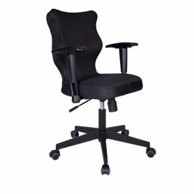 Krzesło obrotowe Rapid Plus r.6 lamówka czar. stel. czar R1