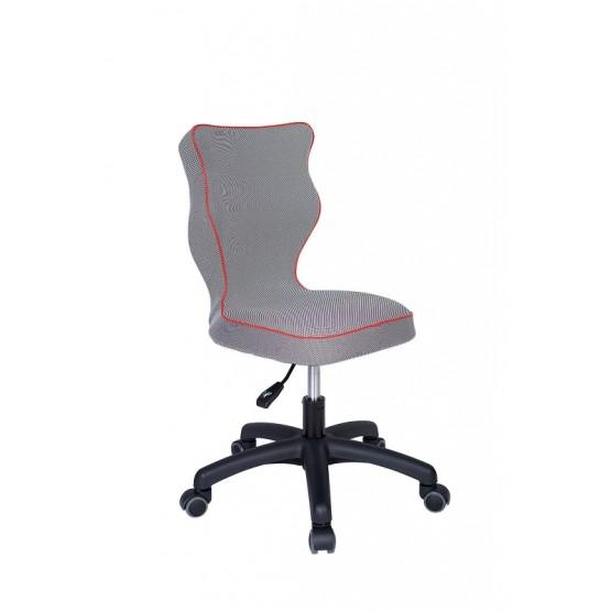 Krzesło obrotowe Luka - rozmiar 4, lamówka czerwona R1