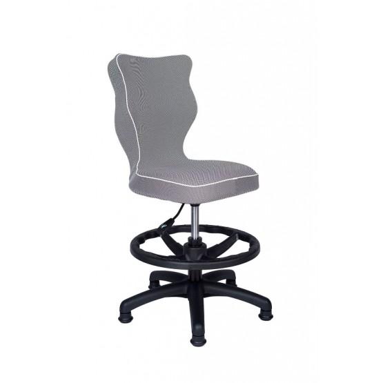 Krzesło obrotowe Luka roz4 z podnóżkiem, lamówka biała R1
