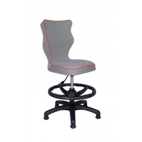 Krzesło obrotowe Luka roz 4 z podnóżkiem, lamówka czerw R1