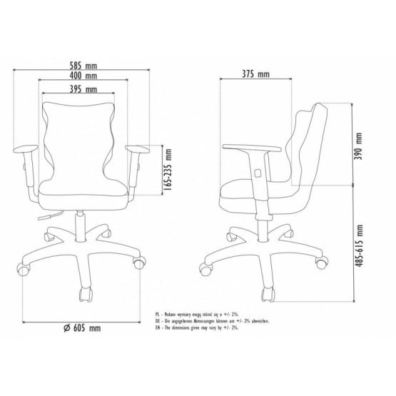 Krzesło obrotowe Luka - rozmiar 5, lamówka czerwona R1