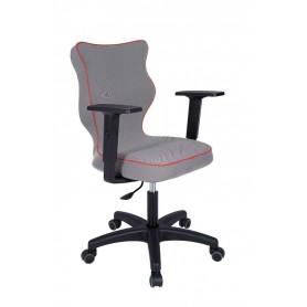 Krzesło obrotowe Luka rozmiar 6, lamówka czerwona R1