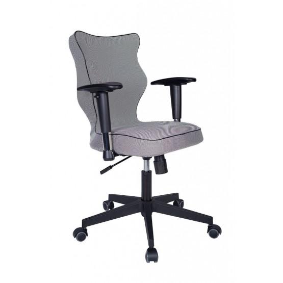 Krzesło obrotowe Luka Plus roz 6, lam czarna, stel. czar R1