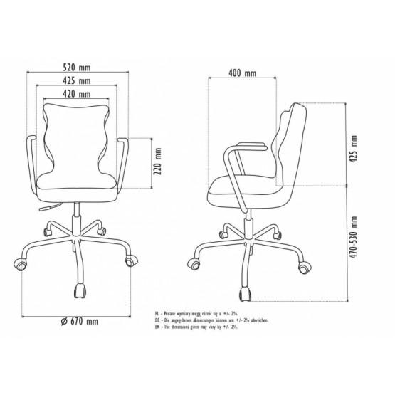 Krzesło obrotowe Deco - rozmiar 6, stelaż czarny, Melanż R1