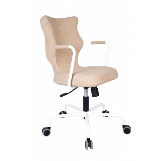 Krzesło obrotowe Deco - rozmiar 6, stelaż biały, brązowy R1