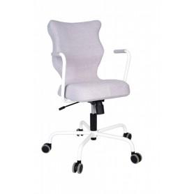 Krzesło obrotowe Deco - rozmiar 6, stelaż biały, melanż R1