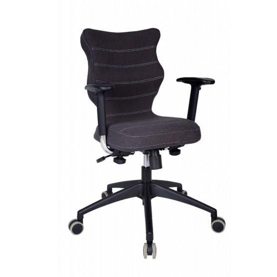 Krzesło obrotowe Deco Prestiż–roz.6, stel.czar, antracyt R1