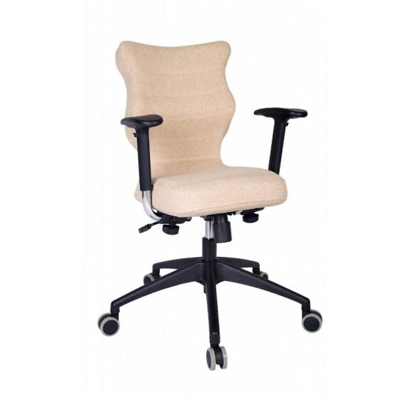 Krzesło obrotowe Deco Prestiż–roz6, stel. czar, brąz R1